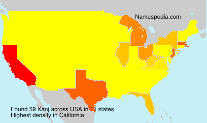 Surname Kanj in USA