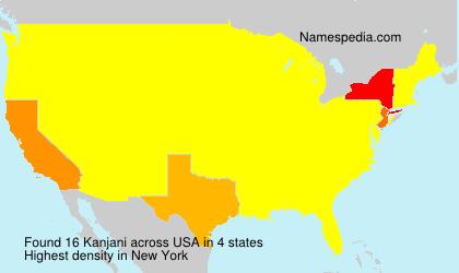 Surname Kanjani in USA