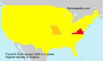 Surname Kanli in USA