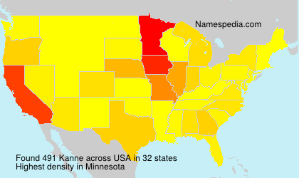 Surname Kanne in USA