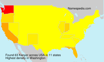 Surname Kanyer in USA