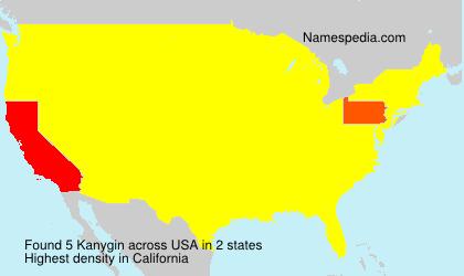 Surname Kanygin in USA