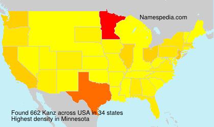 Surname Kanz in USA