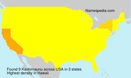 Kaohimaunu - USA