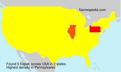 Surname Kapak in USA
