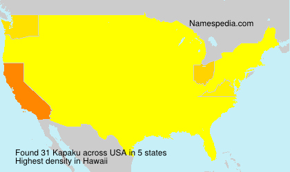 Surname Kapaku in USA