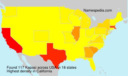Surname Kapasi in USA