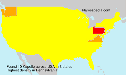 Surname Kapello in USA