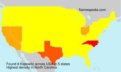 Surname Kapowitz in USA
