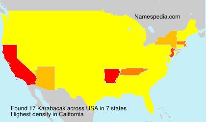 Surname Karabacak in USA