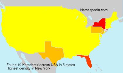 Surname Karademir in USA
