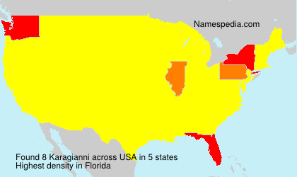 Surname Karagianni in USA