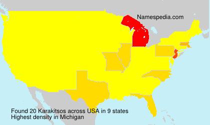 Surname Karakitsos in USA