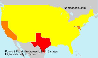 Surname Karakulko in USA