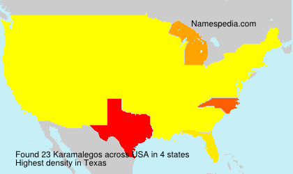 Surname Karamalegos in USA