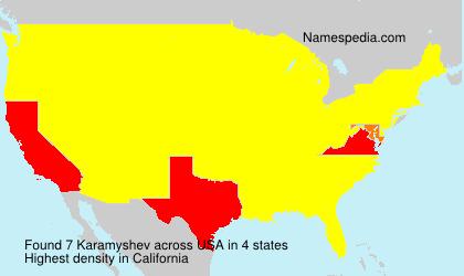 Surname Karamyshev in USA