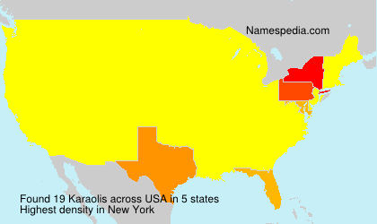 Surname Karaolis in USA