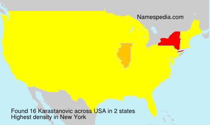 Surname Karastanovic in USA