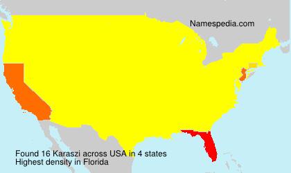 Surname Karaszi in USA