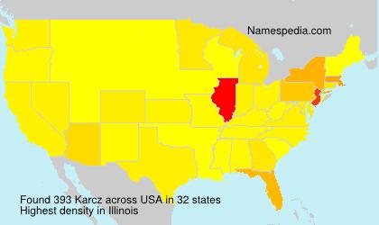 Surname Karcz in USA