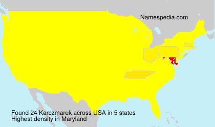 Surname Karczmarek in USA