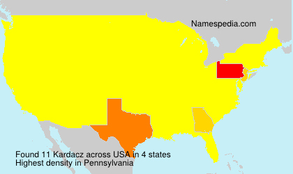Surname Kardacz in USA