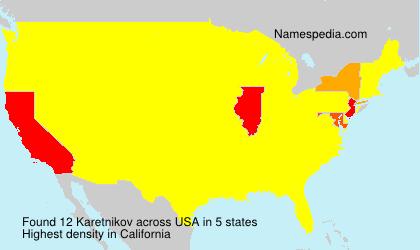 Surname Karetnikov in USA
