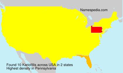 Kariofillis - USA