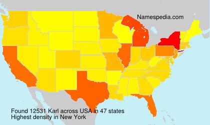 Surname Karl in USA
