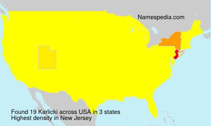 Familiennamen Karlicki - USA