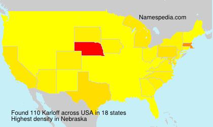 Familiennamen Karloff - USA