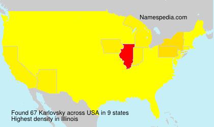 Surname Karlovsky in USA