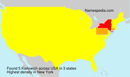 Surname Karlowich in USA
