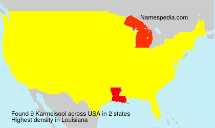 Familiennamen Karmeisool - USA
