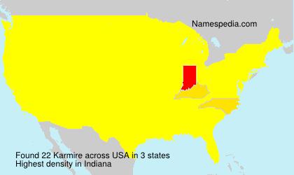 Familiennamen Karmire - USA
