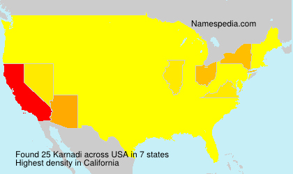 Surname Karnadi in USA