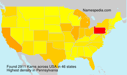 Surname Karns in USA