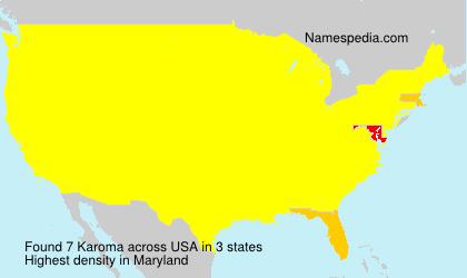 Surname Karoma in USA