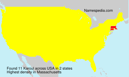 Surname Karoul in USA