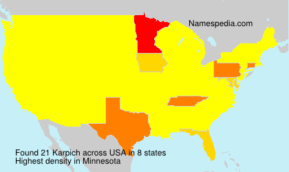 Surname Karpich in USA