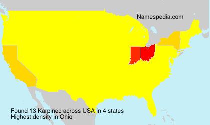Surname Karpinec in USA