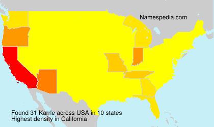 Surname Karrle in USA