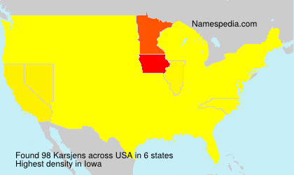 Surname Karsjens in USA