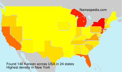 Surname Karwan in USA