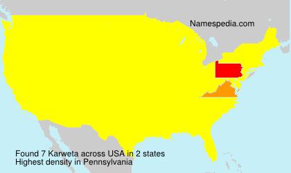 Surname Karweta in USA