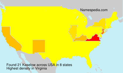Surname Kaselow in USA