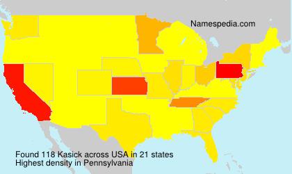 Surname Kasick in USA