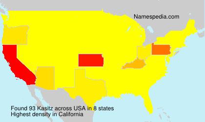 Familiennamen Kasitz - USA
