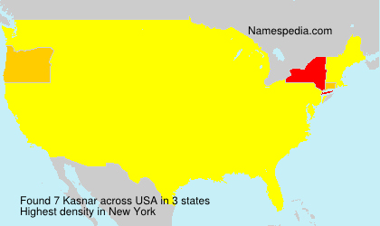 Surname Kasnar in USA