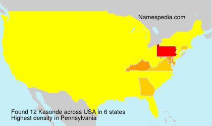 Surname Kasonde in USA